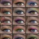 Photoshop: Eyeshadow Photoshop Brushes (Various shapes of eye shadows. Brushes are included for both the left and right eyes.)