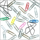 Photoshop: Trombone (plastic and metal paperclips)