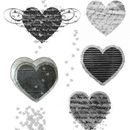 Photoshop: Heart-03 (hearts decorated with swirls, textures, handwritten text...)