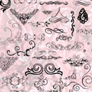 Photoshop: Swirls & flourishes (various swirls, ornamental designs, and flourishes)