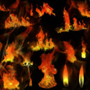 Photoshop: Flames (various flames and fires)